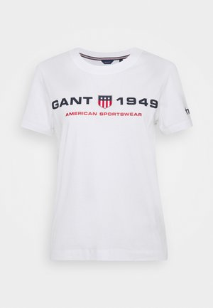 RETRO SHIELD - Print T-shirt - white
