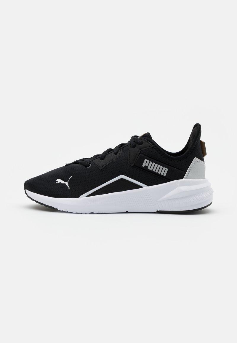 Puma - PLATINUM - Obuwie treningowe - black/white/metallic silver