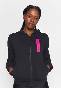 Calvin Klein Performance - FULL ZIP HOODY - Zip-up hoodie - black - 4