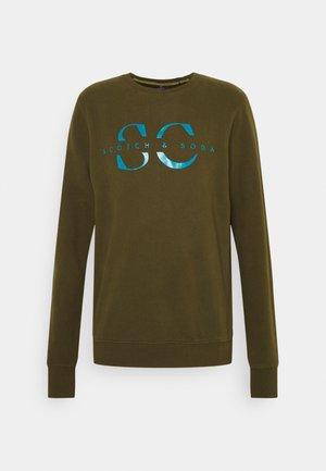 CREW NECK WITH GRAPHIC - Sweatshirt - military green