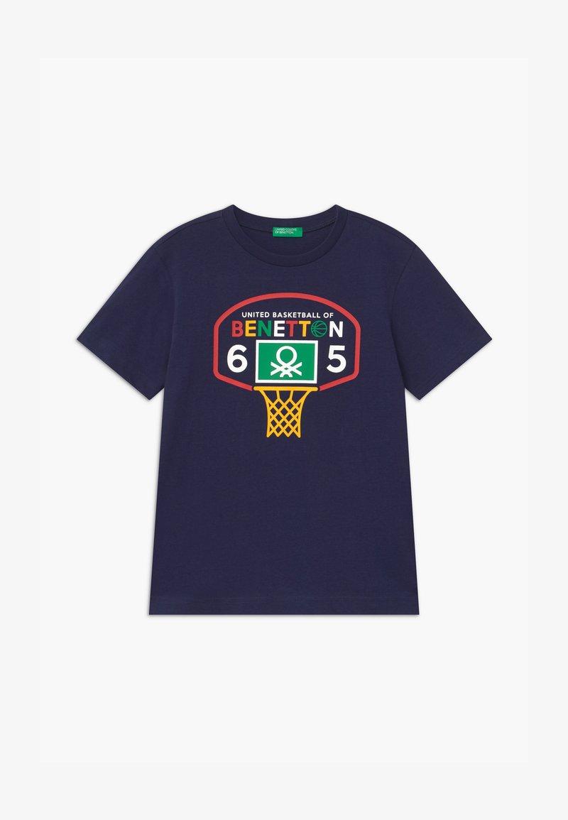 Benetton - BASIC BOY - T-Shirt print - dark blue