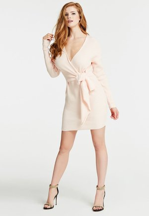 STRICKKLEID KNOTEN - Jumper dress - hellrose