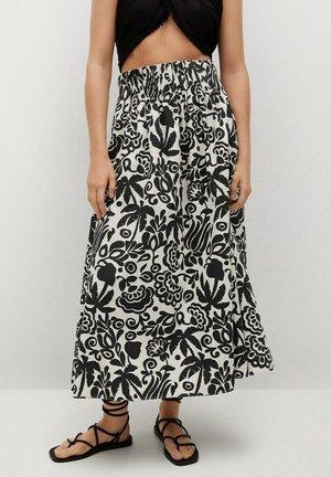 AGNES - Pleated skirt - blanc cassé