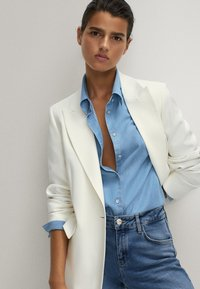 Massimo Dutti - Button-down blouse - light blue - 3