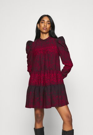 TIERED MINI CHUNK ON - Korte jurk - red