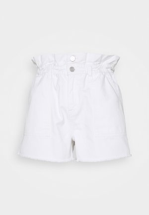 PAPERBAG - Shorts vaqueros - white