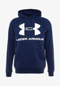 Under Armour - RIVAL SPORTSTYLE LOGO HOODIE - Hættetrøjer - academy/white - 3