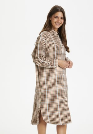 ELIDAPW - Shirt dress - small brown check