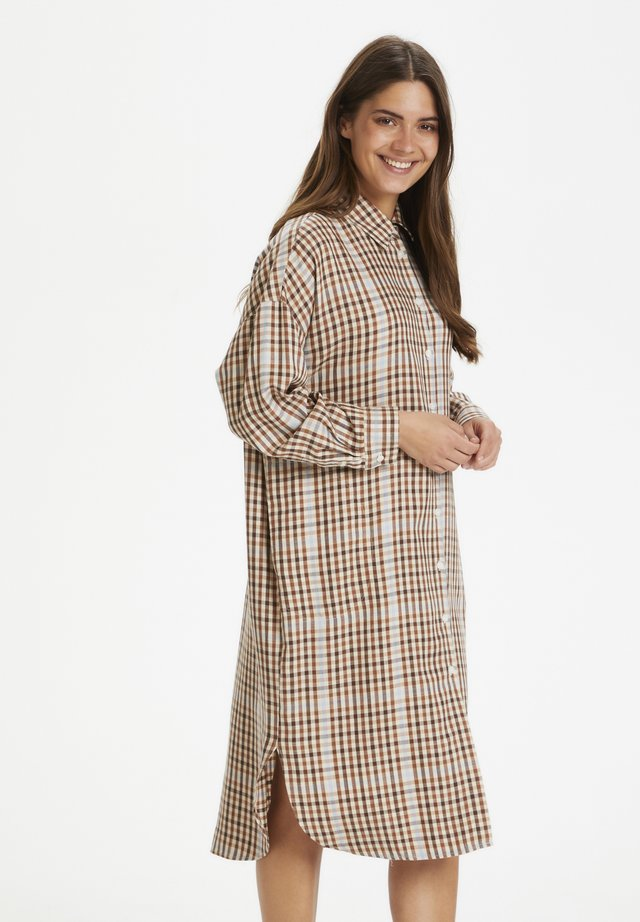 ELIDAPW - Blousejurk - small brown check