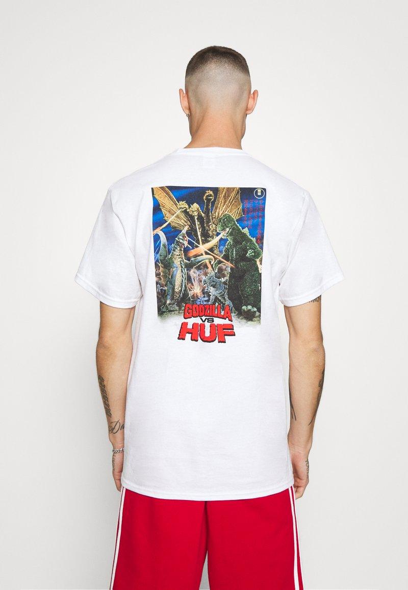 HUF - DESTROY ALL MONSTERS TEE - Print T-shirt - white