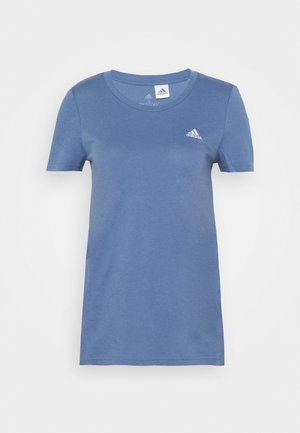 Basic T-shirt - blue/white