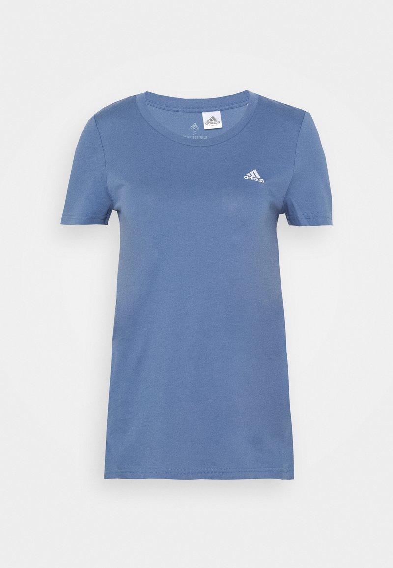 adidas Performance - T-shirt basic - blue/white