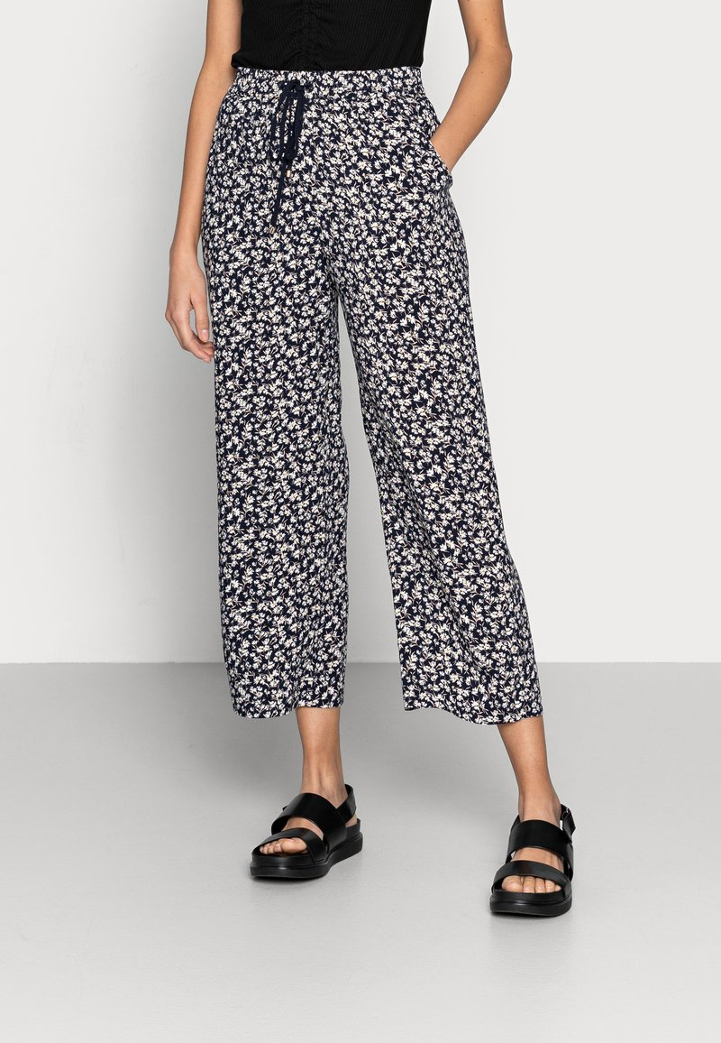 Lindex - TROUSERS BELLA CROPPED - Pantalones - navy