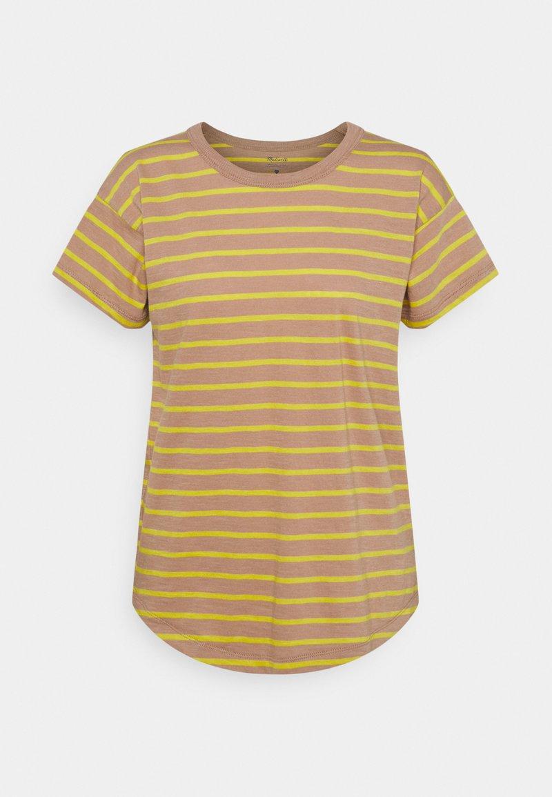 Madewell - SORREL WHISPER CREWNECK TEE IN LOBSTER STRIPE - Print T-shirt - faded earth