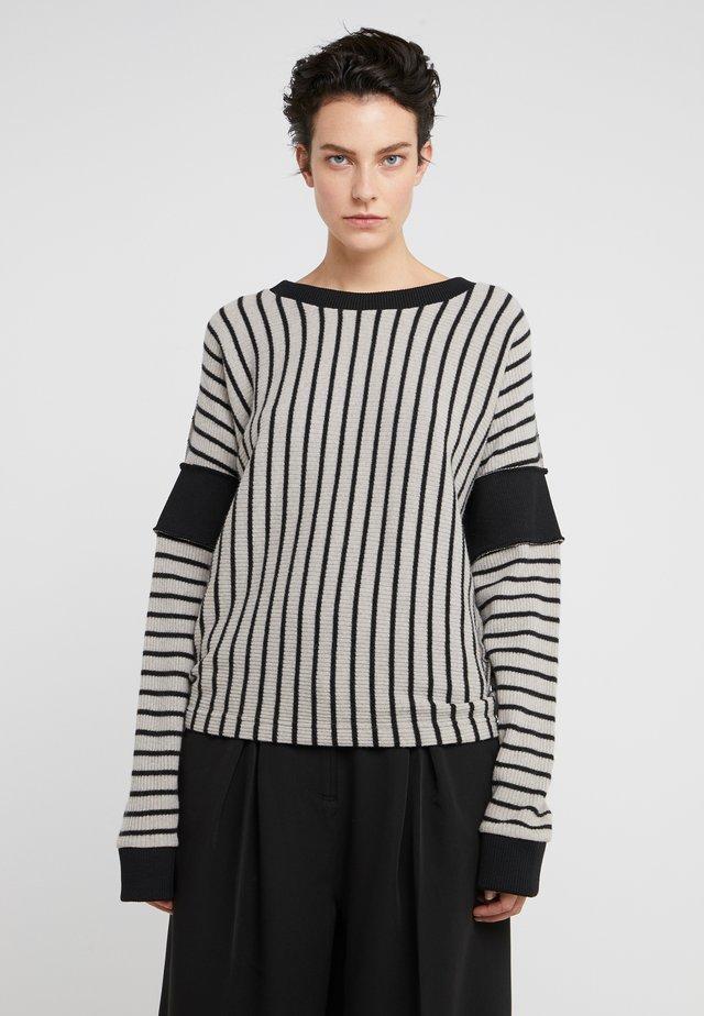 Sweter - beige/black