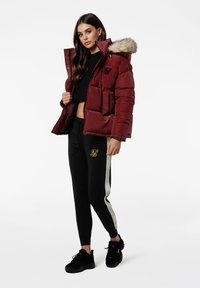 SIKSILK - Winterjas - burgundy - 1