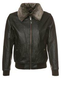Schott - Leather jacket - dark brown - 0