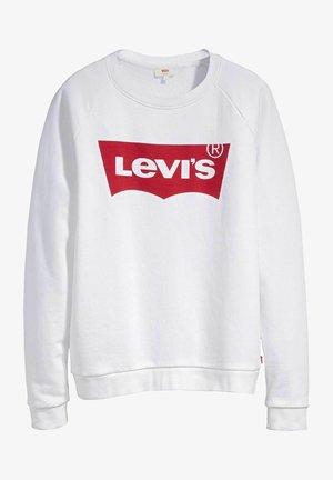 Sweatshirt - crew core batwing ii white