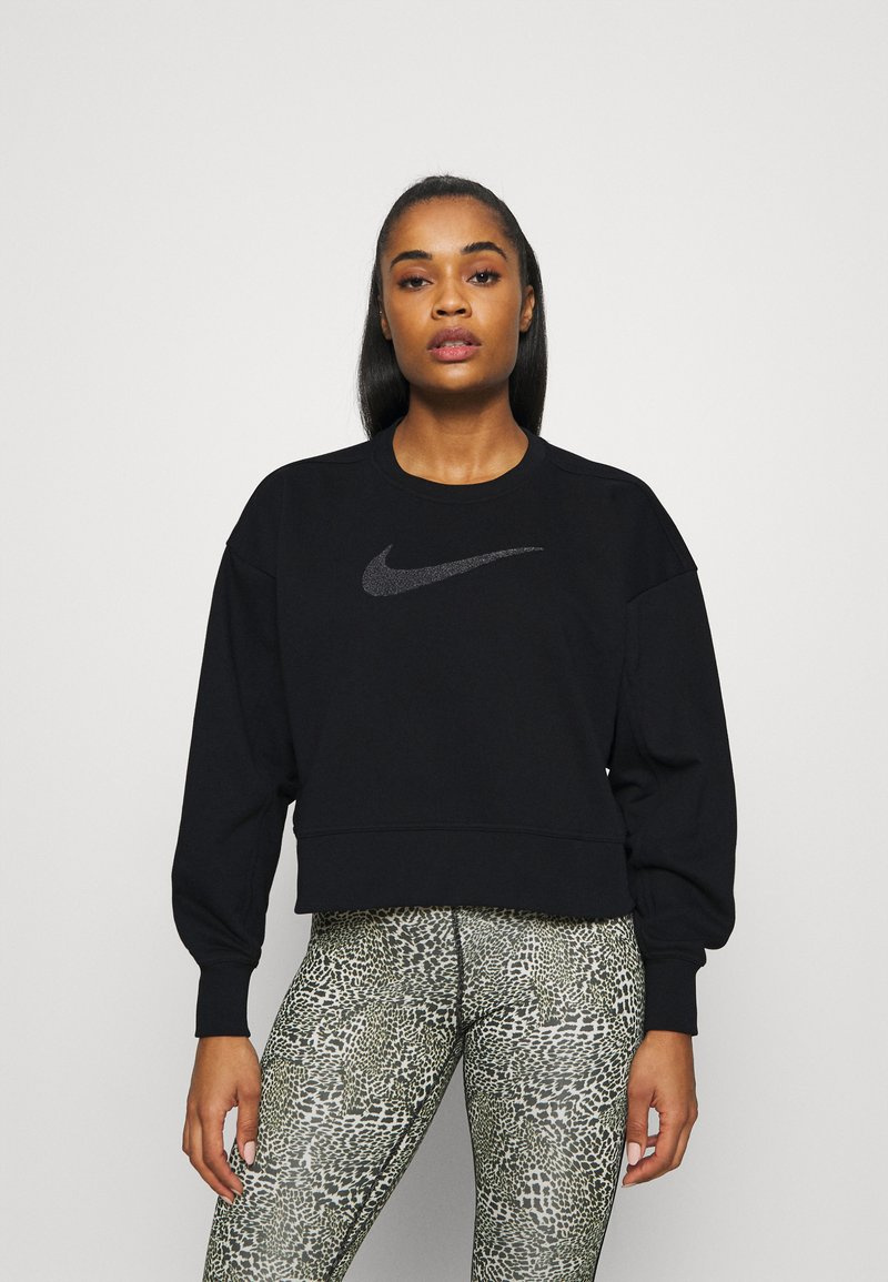 Nike Performance - DRY GET FIT CREW - Sweater - black/light smoke grey