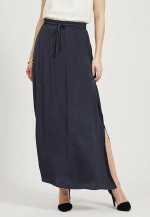 MAXIROCK KORDELZUG - Maxi skirt - dark blue