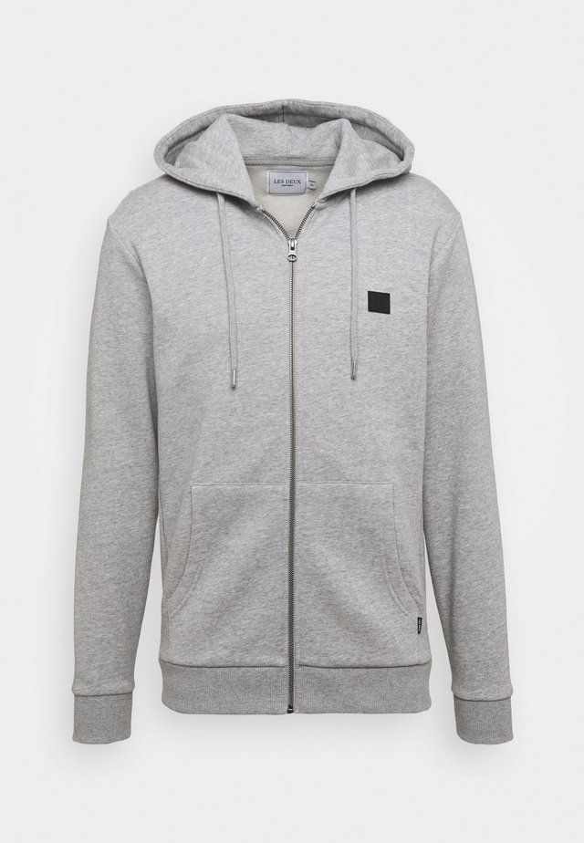 CLINTON ZIPPER HOODIE - Zip-up hoodie - light grey melange/black