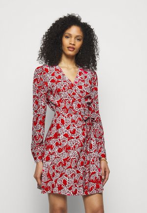 SAVILLE - Day dress - lace red