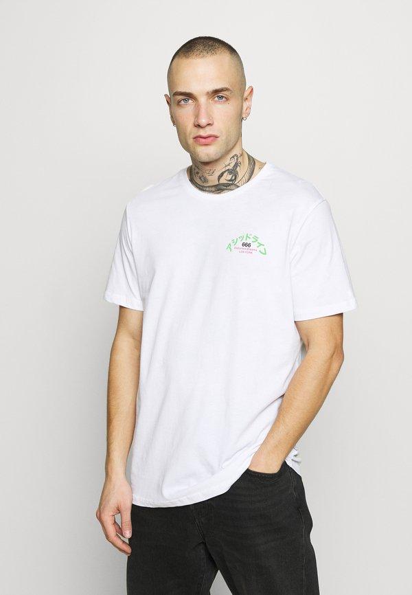 YOURTURN T-shirt z nadrukiem - white/biały Odzież Męska LWVD