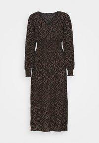 Dorothy Perkins - FIT & FLARE SHEERED DRESS - Day dress - black - 0