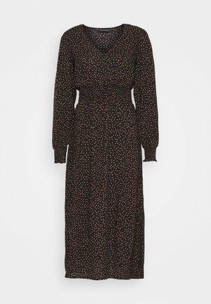 FIT & FLARE SHEERED DRESS - Kasdienė suknelė - black