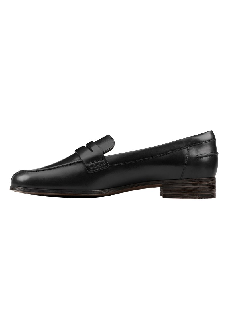Clarks - Instappers - black leather
