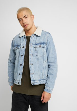 UNISEX BORG DENIM JACKET - Farkkutakki - distressed blue