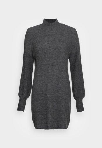VMLEFILE HIGHNECK DRESS - Jumper dress - medium grey melange