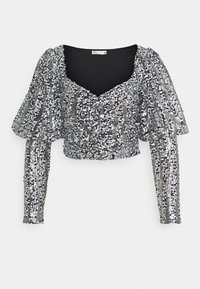 Nly by Nelly - SPARKLE PARTY - Blouse - black/silver - 0