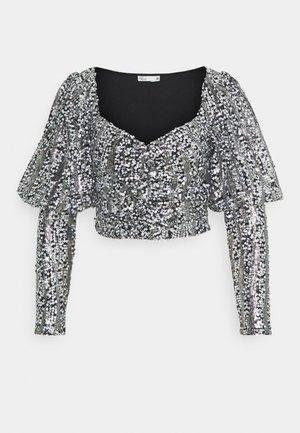 SPARKLE PARTY - Blouse - black/silver