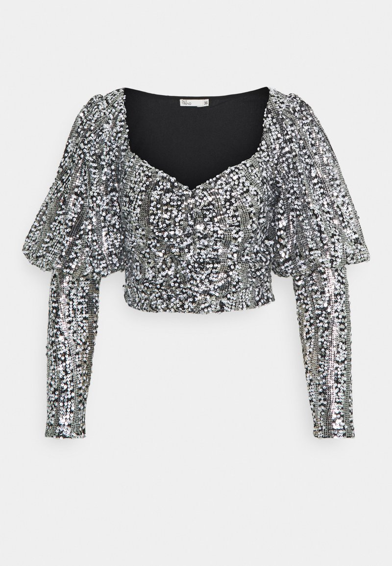 Nly by Nelly - SPARKLE PARTY - Blouse - black/silver