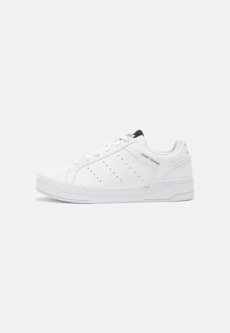 adidas Originals - COURT TOURINO - Sneakersy niskie - white/core black