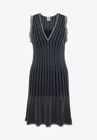 M Missoni - DRESS - Strikket kjole - blue silver - 5