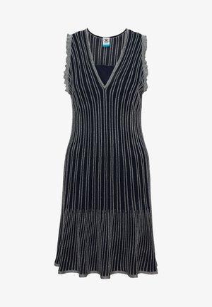 DRESS - Strikket kjole - blue silver