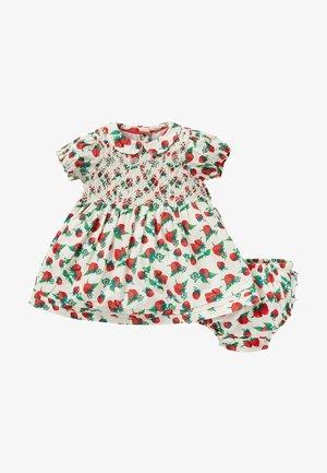 NOSTALGISCHES - Day dress - naturweiß/ erdbeerbeet