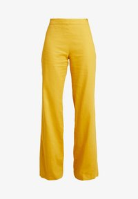 UNIQUE 21 - WIDE LEG TROUSERS - Trousers - mustard - 5