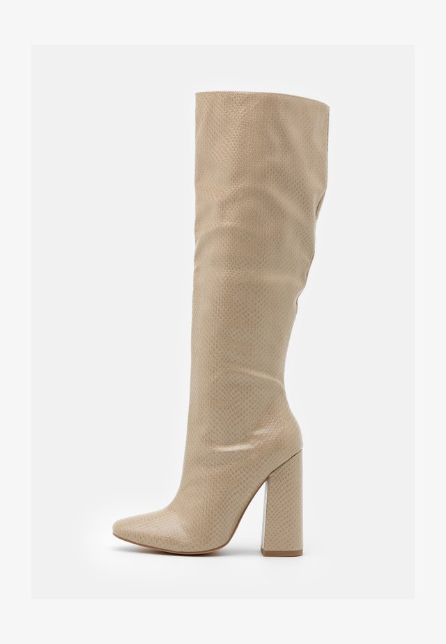TUBULAR BOOT - High heeled boots - taupe