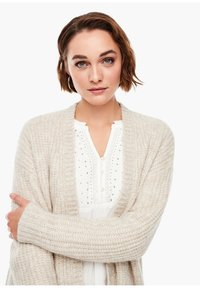 s.Oliver - Cardigan - light sand melange - 3