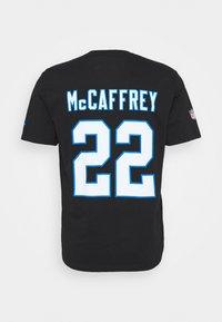 Fanatics - NFL CHRISTIAN MCCAFFREY CAROLINA PANTHERS ICONIC NAME & NUMBER  - Club wear - black - 7
