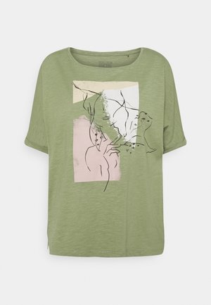 TEE PRINT - Print T-shirt - light khaki