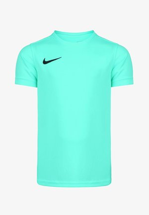 Basic T-shirt - hyper turquoise / black