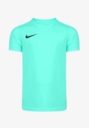 Basic T-shirt - hyper turquoise / black