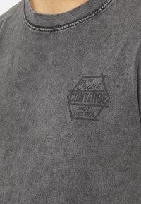 Converse - FASHION CUT AND SEW TEE - Print T-shirt - black - 3