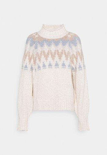 FAIR ISLE - Stickad tröja - cream