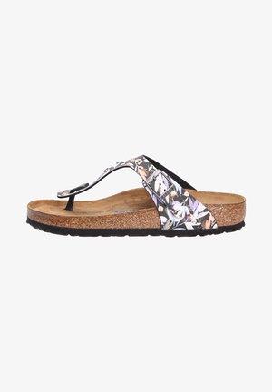 Slippers - floralfadesblack (01592)