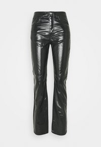 Weekday - RALPH COATED TROUSERS - Trousers - washed black - 0